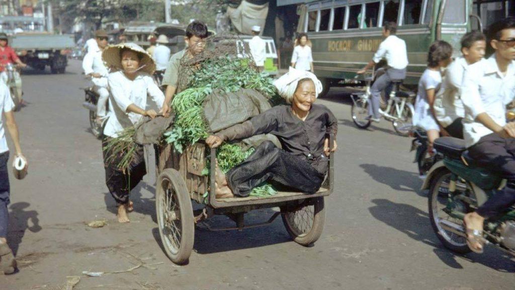 Hình ảnh Xe Ba Gác Sài Gòn Xưa