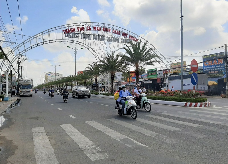 Một Góc Chụp đường Xá ở Cà Mau, Việt Nam